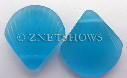 Cultured Sea Glass shell Pendants  <b>30x28mm</b> 30-Pacific Blue    per  <b>10-pc-bag</b>