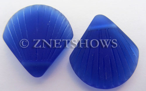 Cultured Sea Glass shell Pendants  <b>30x28mm</b> 33-Royal Blue    per  <b>10-pc-bag</b>