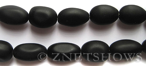 Cultured Sea Glass nugget Beads  <b>18-22mm</b> 02-Jet Black (6-pc-str)(4-in-str)   per  <b>5-str-hank</b>