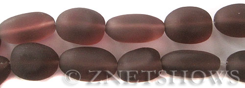 Cultured Sea Glass nugget Beads  <b>18-22mm</b> 37-Medium Amethyst (6-pc-str)(4-in-str)   per  <b>5-str-hank</b>