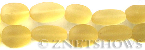 Cultured Sea Glass nugget Beads  <b>18-22mm</b> 84-Lemon (6-pc-str)(4-in-str)   per  <b>5-str-hank</b>