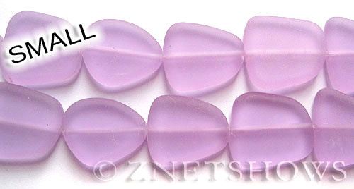 Cultured Sea Glass freeform flat Beads  <b>13-16mm</b> 39-Periwinkle Changes    per  <b>14-pc-str</b>