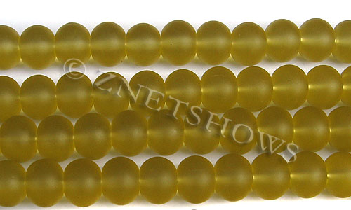 Cultured Sea Glass rondelle Beads  <b>14x10mm</b> 16-Desert Gold    per  <b>5-str-hank</b>