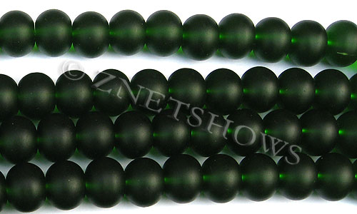 Cultured Sea Glass rondelle Beads  <b>14x10mm</b> 25-Shamrock    per  <b>5-str-hank</b>