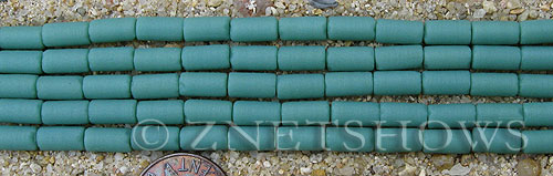 baby blue color Cultured Sea Glass tube Beads  <b>9x4mm</b> (strand length 8 inches)   per  <b>5-str-hank</b>