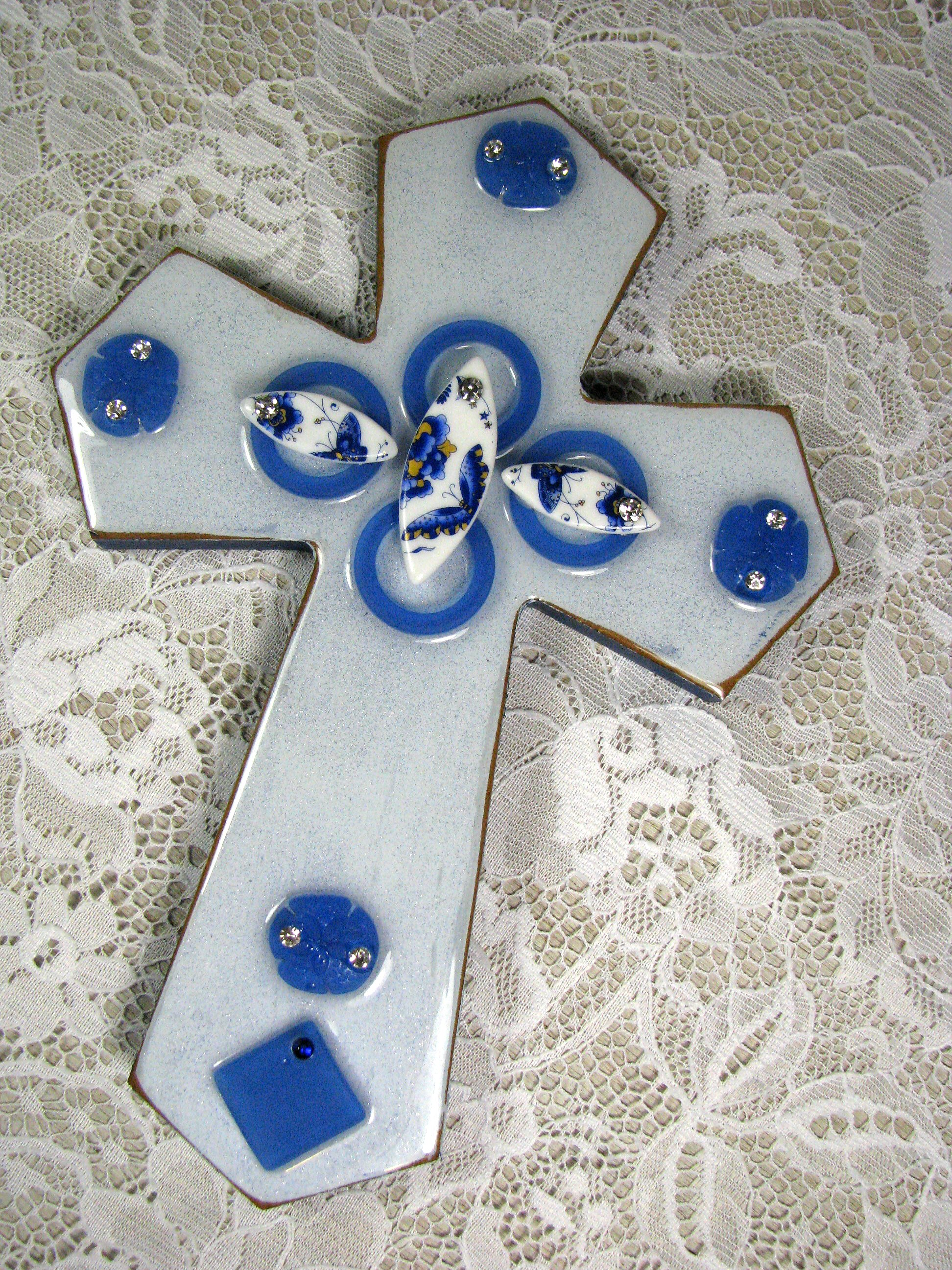 Decorated Cross by Cindy Cima Edwards