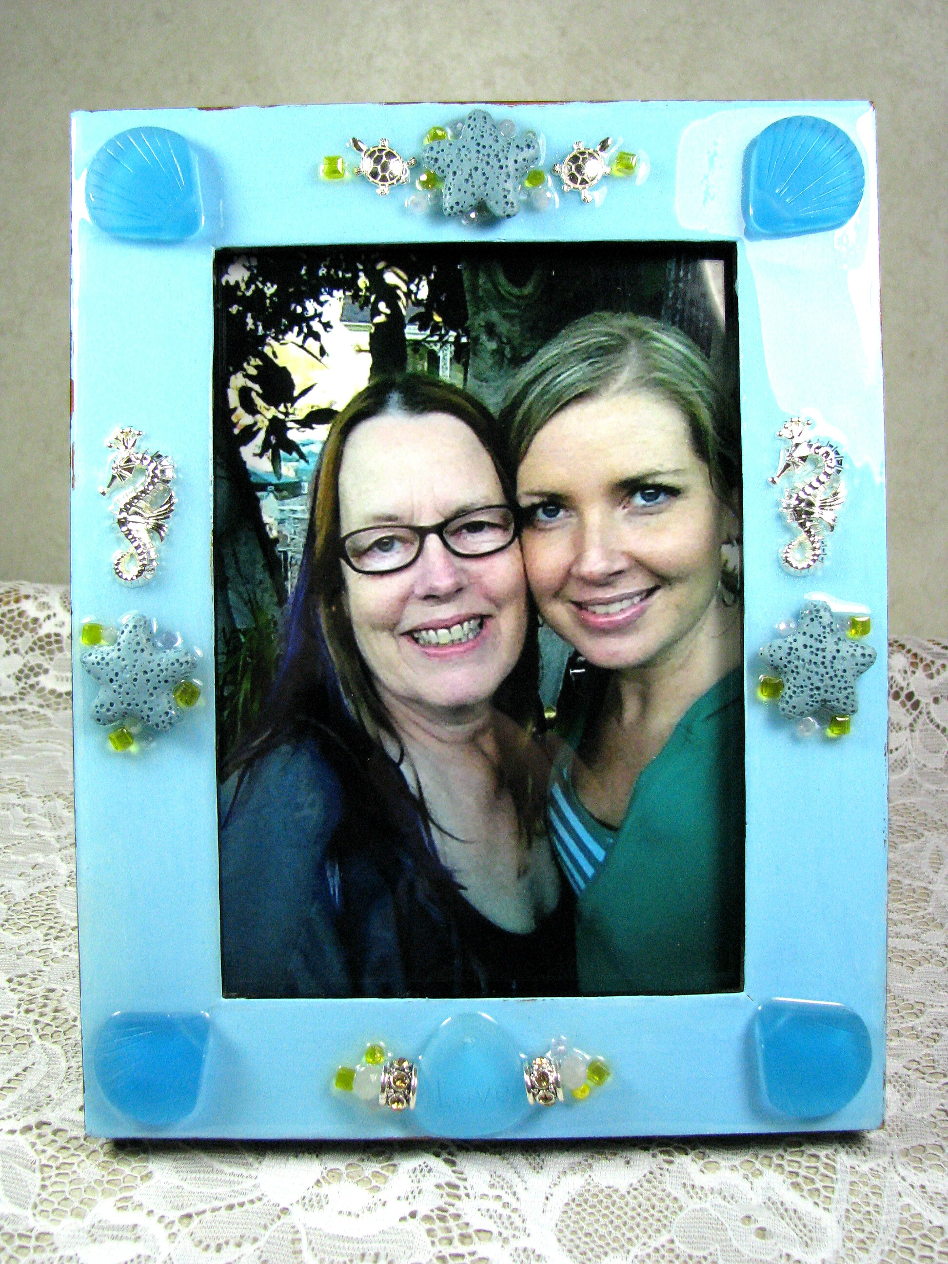 Decorated Picture Frame by Cindy Cima Edwards