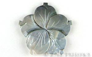 shell - black lip  flower Pendants <b>about 60mm</b> carved    per   <b>Piece</b>