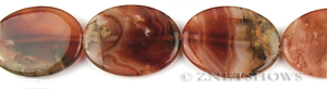 agate red agate oval puffed Pendants <b>40x30mm</b> color enhanced    per   <b> piece</b>