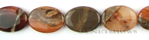 agate red agate oval puffed Pendants <b>30x22mm</b> color enhanced    per   <b> about 8-in-str</b>