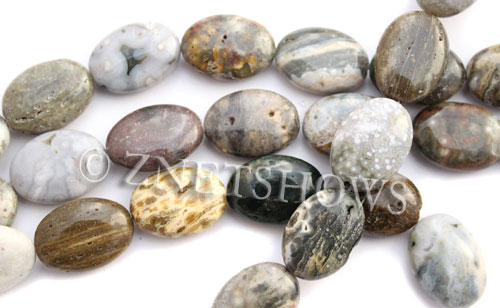 ocean jasper  oval Beads <b>18x25mm</b> Grade B    per   <b> 15.5-in-str</b>