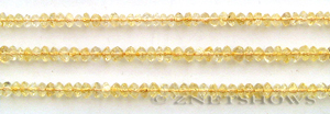 Other stone & material citrine, faceted rondelle Beads <b>about 4x5mm</b>     per   <b> 14.5-in-str (110-pc)</b>