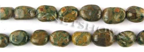 Other stone & material Rhyolite nugget Beads <b>about 14x11mm</b>     per   <b> 15.5-in-str</b>