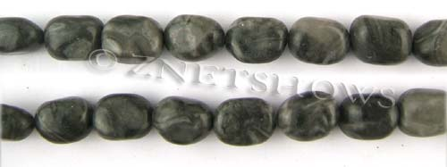 Other stone & material black picture jasper nugget Beads <b>about 14x11mm</b>     per   <b> 15.5-in-str</b>