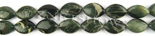 african silver leaf  marquise spindle Beads <b>19x12mm</b>     per   <b> 8-in-str</b>
