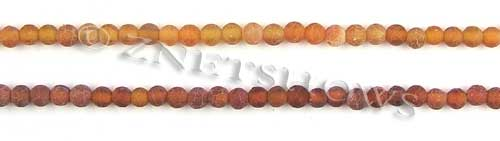 Fire agate dyed red color round Beads <b>about 4mm</b>     per   <b> 8-in-str</b>