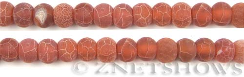 Fire agate dyed red color rondelle Beads <b>about 10x8mm</b>     per   <b> 8-in-str</b>