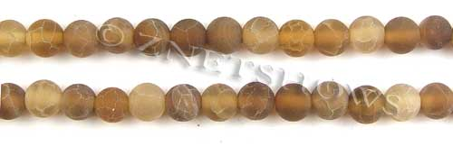 Fire agate dyed yellow color round Beads <b>about 8mm</b>     per   <b> 8-in-str</b>