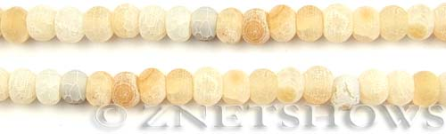 Fire agate dyed light yellow color rondelle Beads <b>about 8x6mm</b>     per   <b> 8-in-str</b>
