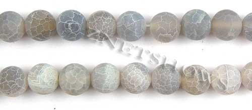 Fire agate dyed gray light color round Beads <b>about 12mm</b>     per   <b> 8-in-str</b>