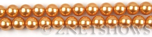 south sea shell pearl orange round Beads <b>8mm</b>     per   <b> 8-in-str</b>