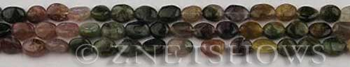 Other stone & material tourmaline oval Beads <b>6mm</b>     per   <b> about 14-in-str</b>