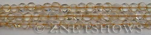 Other stone & material citrine coin Beads <b>6mm</b>     per   <b> about 14-in-str</b>