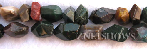 fancy jasper faceted nugget Beads <b>8-15x12-22mm </b>     per   <b> 8-in-str</b>