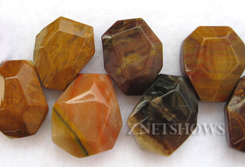 Other stone & material orange aventurine  faceted nugget Beads <b>15-20x12-25mm </b>     per   <b> 8-in-str</b>