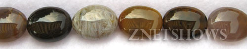 Other stone & material fancy jasper oval puffed Beads <b>about 14x10mm</b>     per   <b> 8-in-str</b>