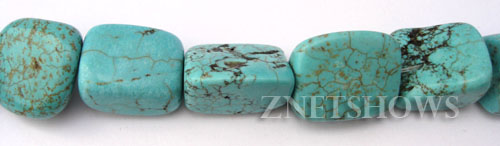 turquoise color howlite  nugget Beads <b>about 18x10mm</b>     per   <b> 15.5-in-str</b>