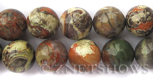 Other stone & material peacock vista jasper round Beads <b>20mm</b>     per   <b> 8-in-str</b>