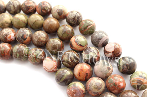Other stone & material peacock vista jasper round Beads <b>16mm</b>     per   <b> 8-in-str</b>