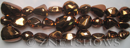 Other stone & material Acrylic-copper color fancy nuggets Beads <b>varies</b>     per   <b> 8-in-str</b>