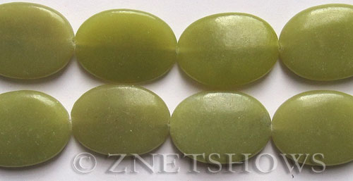 Other stone & material lemon jade oval puffed Pendants <b>33x23mm</b>     per   <b> 15.5-in-str</b>