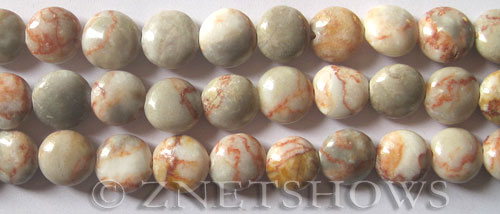 Other stone & material orange vein jasper coin puffed Beads <b>12mm</b>     per   <b> 15.5-in-str</b>