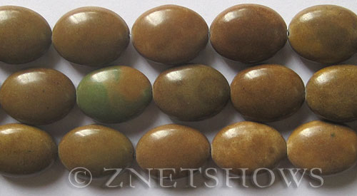 Other stone & material other jasper oval puffed Beads <b>20x15mm</b>     per   <b> 15.5-in-str</b>