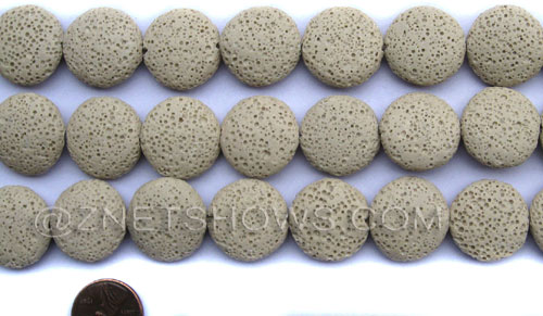 lava dyed beige color coin Beads <b>20mm</b>     per   <b> 8-in-str</b>