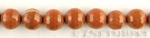 red jasper faceted round Beads <b>14mm</b>     per   <b> 16-in-str</b>