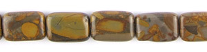 Other stone & material bamboo leaf jasper rectangle puffed Beads <b>18x13mm</b>  length-drilled   per   <b> about 8-in-str</b>