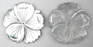 shell - black lip  flower Pendants <b>about 50mm</b> carved Saw Edge carved flower   per   <b>Piece</b>