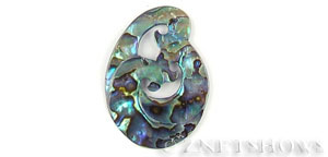 shell - abalone  fancy irregular shape Pendants <b>About 45x33mm</b>     per   <b>piece</b>