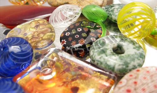 Other Stones & materials -  Mixed stone and glass  Pendants <b>varies</b>  Clearance Pendants (hollow blown beads in pairs, carved jade, agates, jaspers, murano, millefiori, gold foil, lampwork, corla, and much more!  Over $90 wholesale value!    per   <b