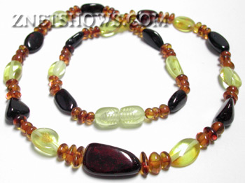 amber necklace nugget Beads <b>5-18mm</b> Lemons and Cherry Necklace    per   <b> 16 Inch Necklace</b>