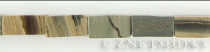 silver leaf  rectangular prism Beads <b>16x8mm</b>  length-drilled   per   <b> 15.5-in-str</b>