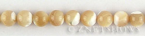 mother of pearl tan color round Beads <b>8mm</b>     per   <b> 15.5-in-str</b>