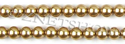 Glass Pearls <b>10mm</b> Round khaki  K689   per <b>15.5-in-str</b>