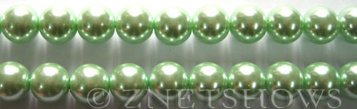 Glass Pearls <b>10mm</b> Round Light Vivid Green Color K0542   per <b>15.5-in-str</b>