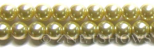 Glass Pearls <b>12mm</b> Round butter Color K121   per <b>15.5-in-str</b>