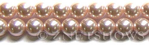 Glass Pearls <b>12mm</b> Round baby pink   K165   per <b>15.5-in-str</b>